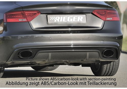 Rieger RS5 Look Diffuser for Audi A5 8T Sportback S line / S5