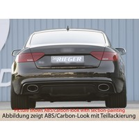 RS5 Look Diffuser for Audi A5 8T Sportback S line / S5