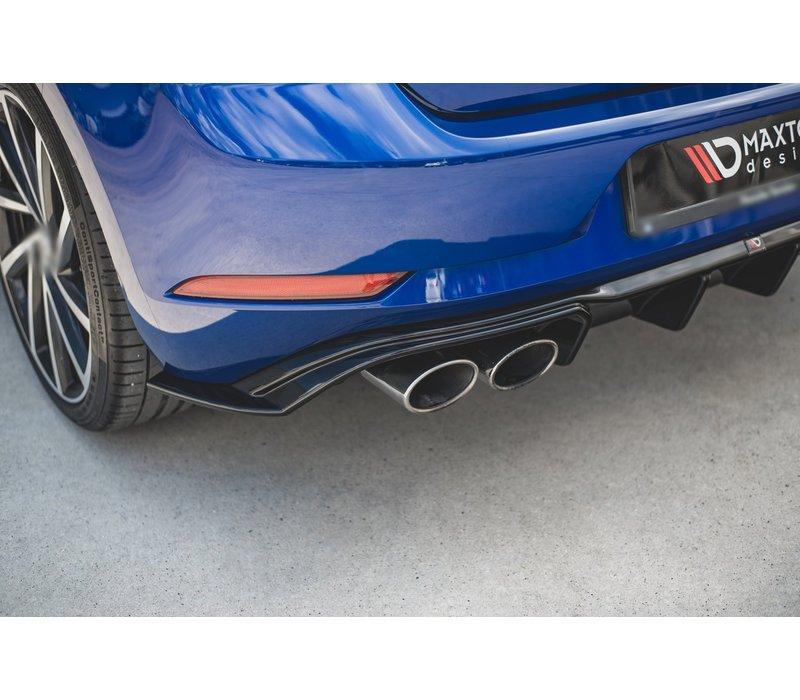 Aggressive Diffuser voor Volkswagen Golf 7.5 Facelift / R / R line / GTI / GTD