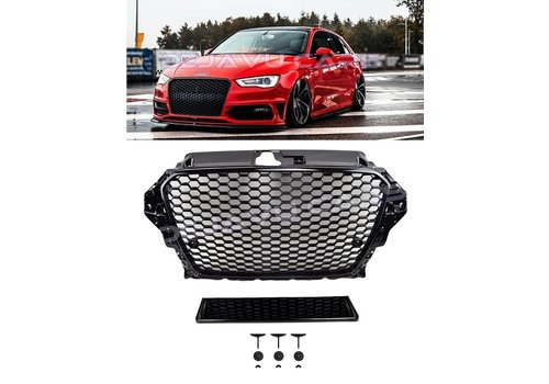 OEM LINE RS3 Look Frontgrill High-gloss Piano Black Edition for Audi A3 8V, S-line, S3