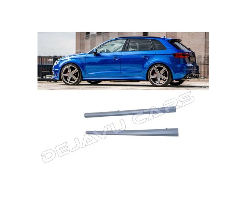 S line S3 RS3 Look Side Skirts for Audi A3 8V