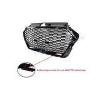 RS3 Look Front Grill Black Edition voor Audi A3 8V