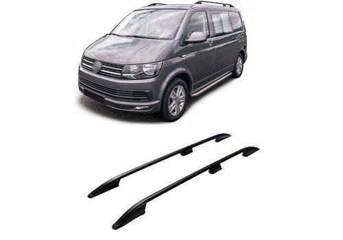OEM LINE Aluminum Roof Rails Black for Volkswagen Transporter T5 / T6