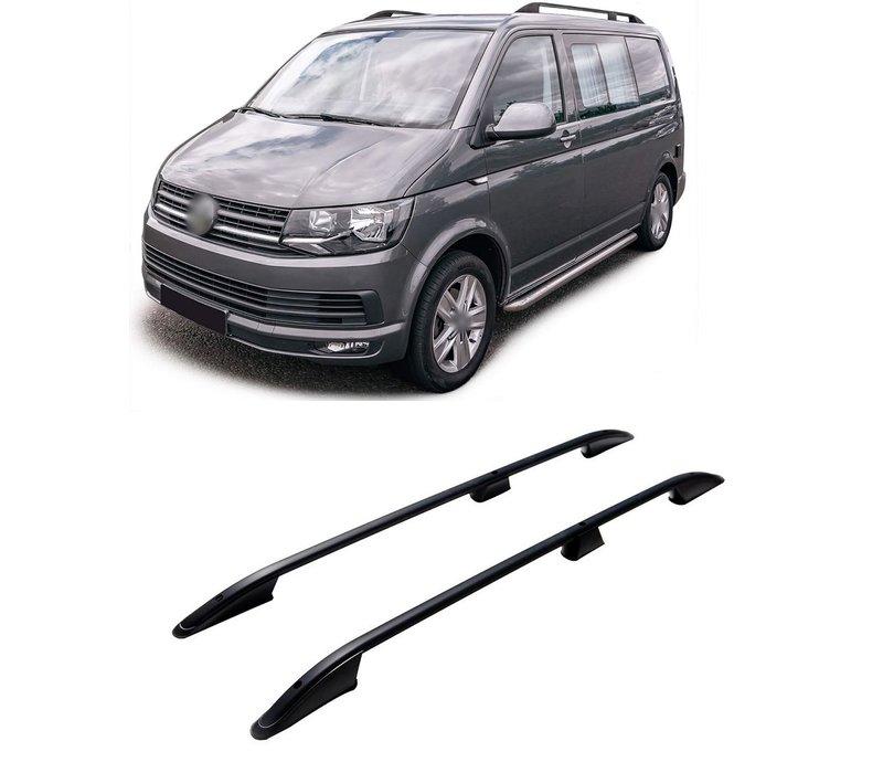 Aluminium Dakrails Zwart voor Volkswagen Transporter T5 / T6