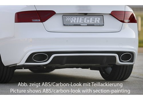 Rieger RS5 Look Diffuser for Audi A5 8T Coupe / Cabrio S line / S5