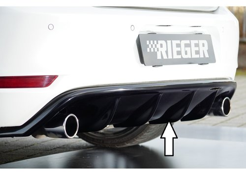 Rieger Aggressive Diffuser for Volkswagen Golf 6 GTI / GTD