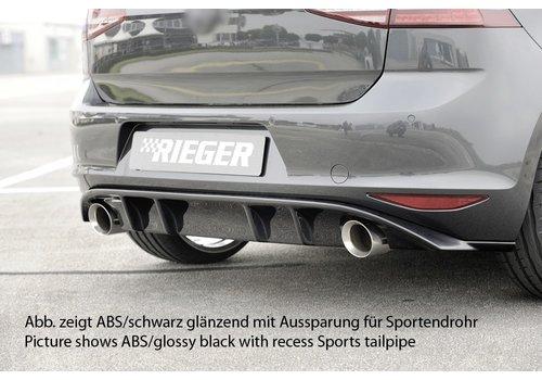 Rieger Facelift GTI Look Diffuser voor Volkswagen Golf 7