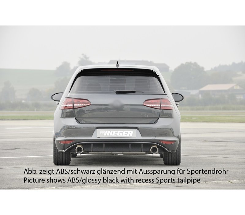 Facelift GTI Look Diffuser for Volkswagen Golf 7