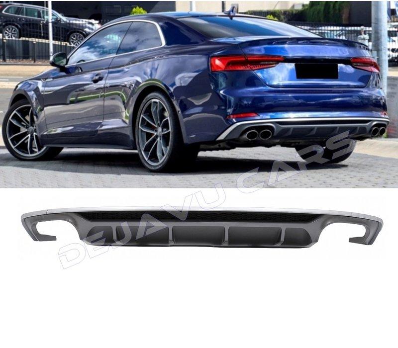 S5 Look Diffuser voor Audi A5 B9 F5 S line