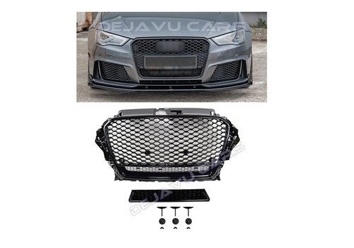 OEM LINE® RS3 Quattro Look Front Grill for Audi A3 8V