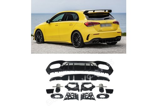 OEM LINE A 35 AMG Look Diffuser for Mercedes Benz A-Class W177 Hatchback