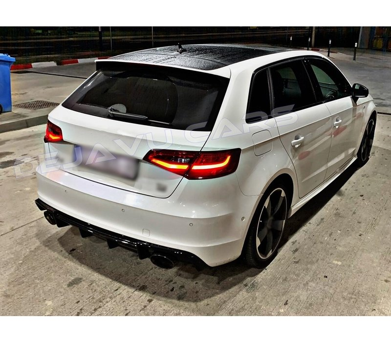 RS3 Look Diffuser voor Audi A3 8V S line & S3