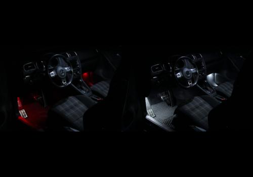 OEM LINE LED Fußraumbeleuchtung Kit   Rot oder Weiß für Volkswagen