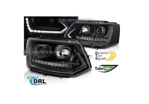 OEM LINE® T6 Xenon Look Dynamic LED Headlights for V.2 Volkswagen Transporter T5