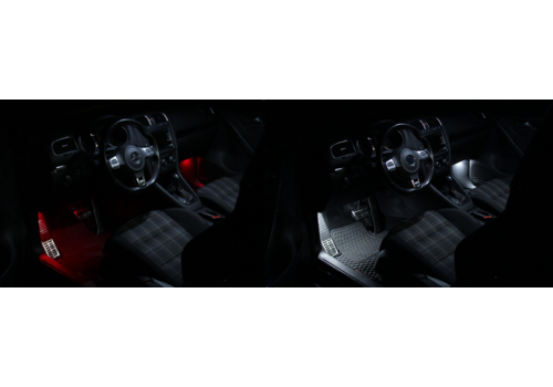 OEM LINE® LED Verlichtingsset Voetenruimte | Rood of Wit voor BMW