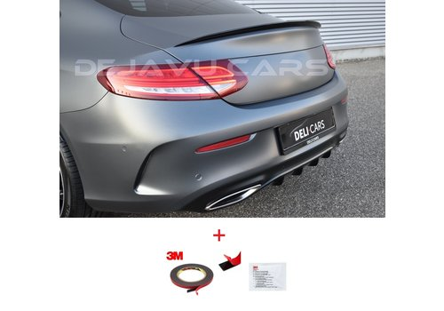 OEM LINE® C63 AMG Look Tailgate spoiler lip for Mercedes Benz C-Class C205 Coupe