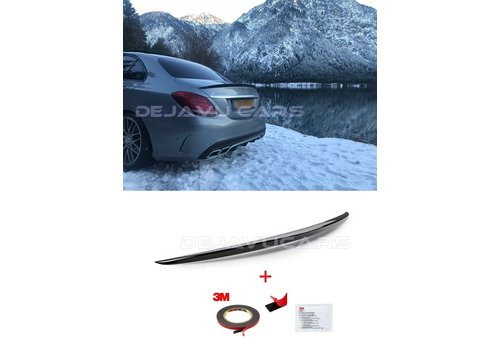 OEM LINE® Glossy black AMG Look Tailgate spoiler lip for Mercedes Benz C-Class W205