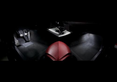 OEM LINE® LED Verlichtingsset Voetenruimte Wit voor BMW