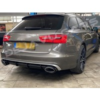 RS6  Look Diffuser + Exhaust tail pipes for Audi A6 C7 4G / S line / S6