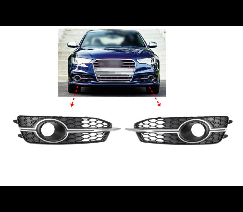 Voorbumper rooster voor Audi A6 C7 S line / S6 C7