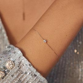 Isabel Bernard La Concorde Apolline 14 karaat rosé gouden armband zirkonia