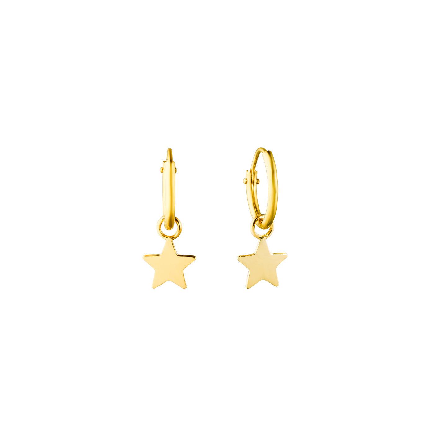 Isabel Bernard Le Marais Anne-Blandine 14 carat golden earrings star