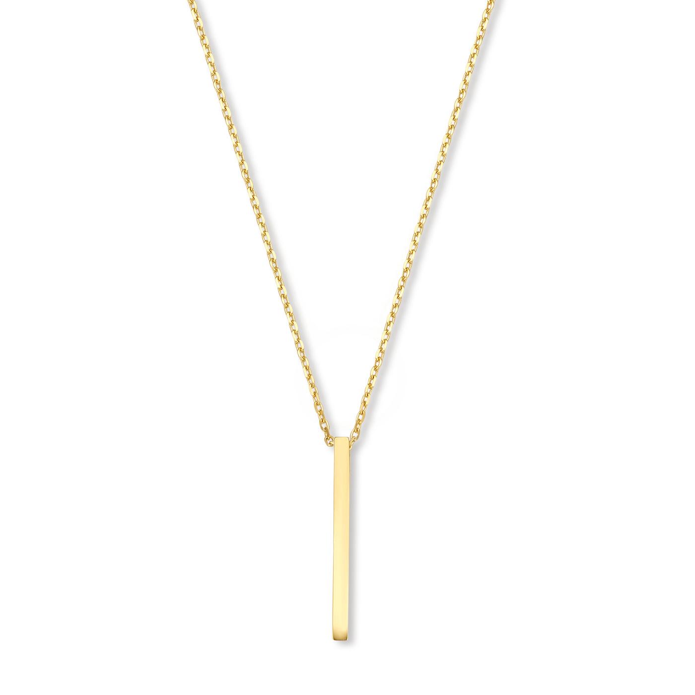 Isabel Bernard Collana in oro con ciondolo a barra 14 carati Le Marais Eloise