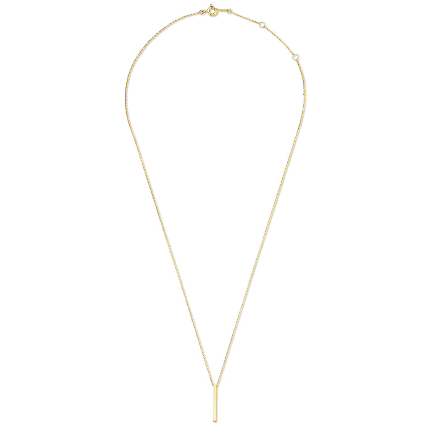 Isabel Bernard Le Marais Eloise 14 karaat gouden collier bar
