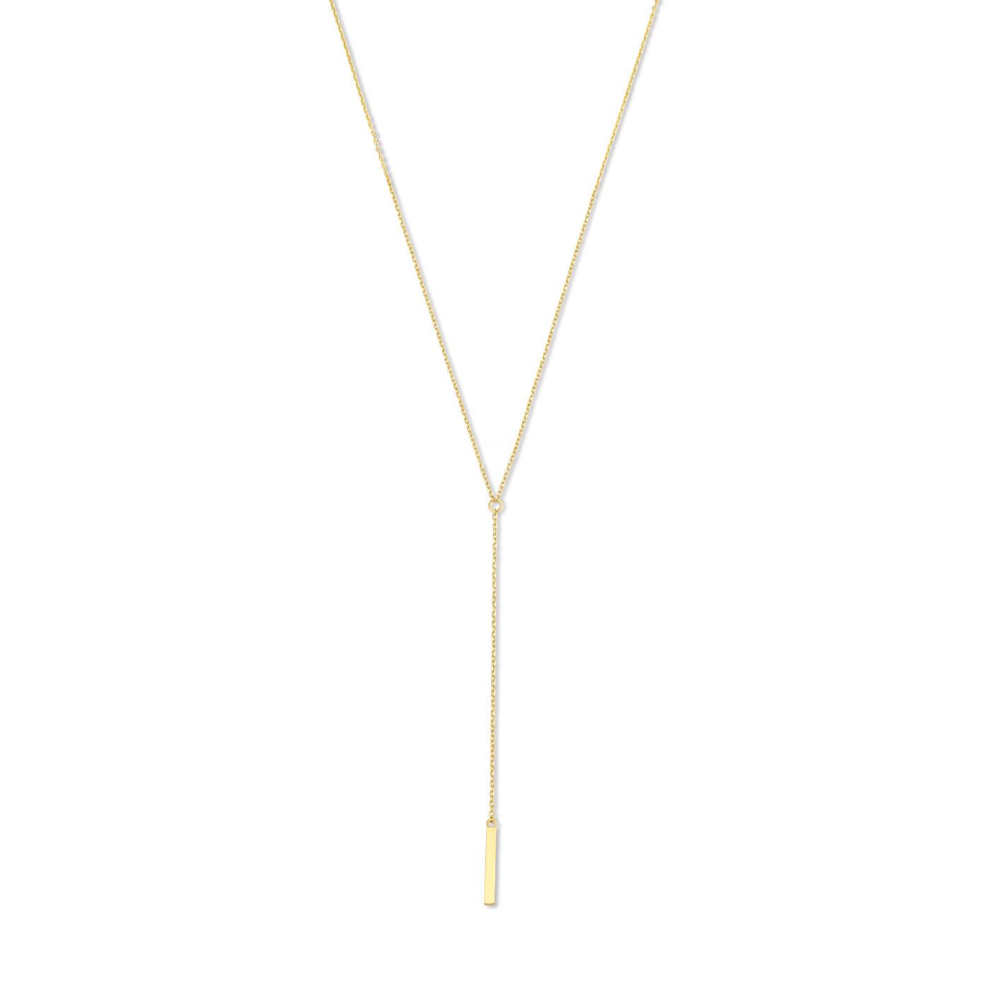 Isabel Bernard Le Marais Dauphine 14 karaat gouden collier met staafje