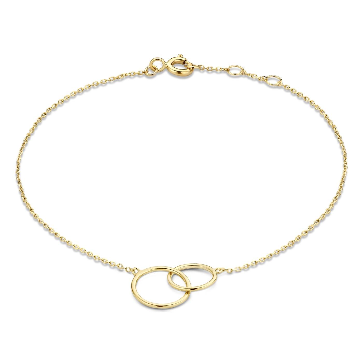 Isabel Bernard Rivoli Coline 585er Goldarmband mit Ringen