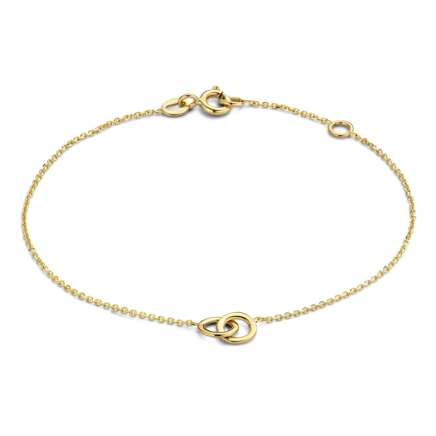 Isabel Bernard Le Marais Noémie 14 karaat gouden armband met ringetjes