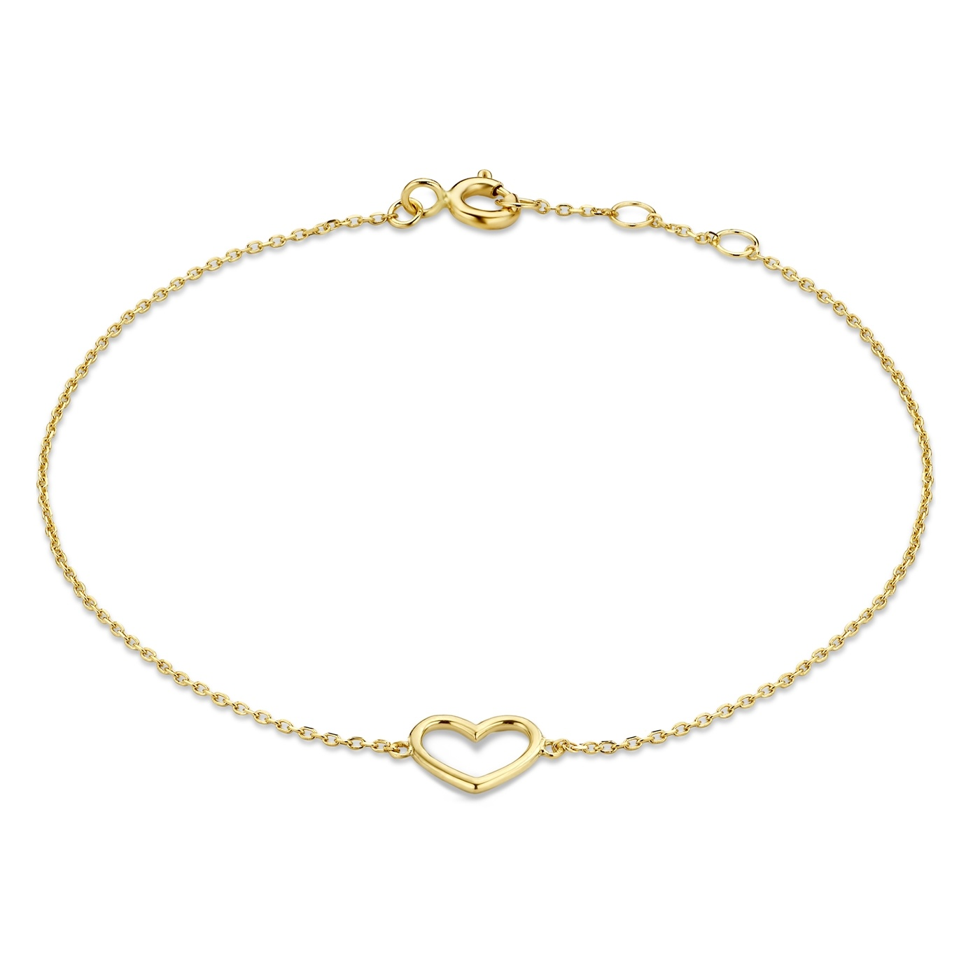 Isabel Bernard Belleville Amore 14 karaat gouden armband met hartje