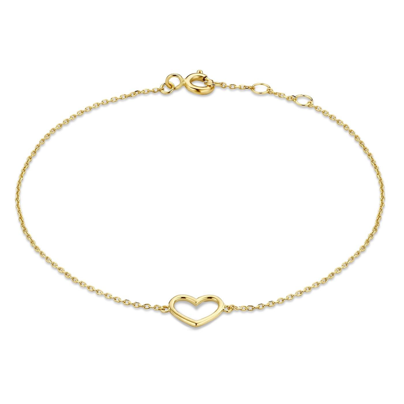 Isabel Bernard Belleville Amore 585er Goldarmband mit Herz