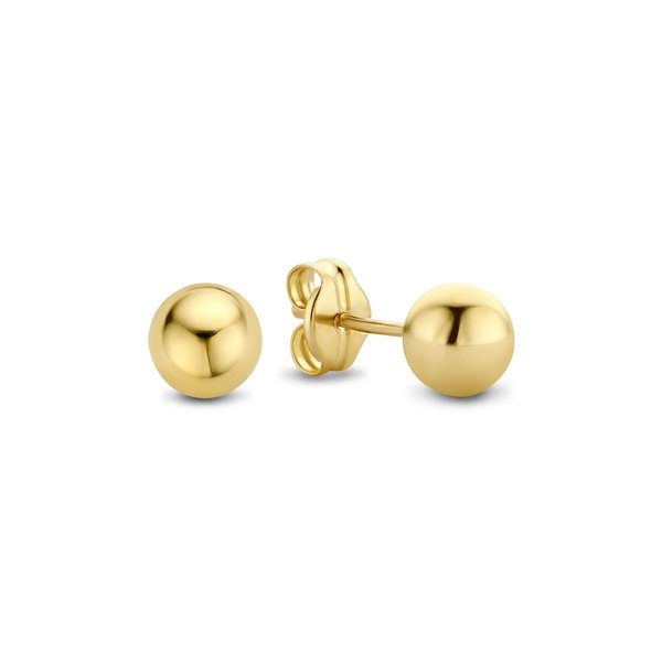 Isabel Bernard Rivoli Coco 14 karaat gouden oorknoppen
