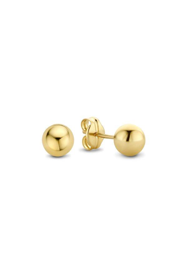 Isabel Bernard Rivoli Coco 14 Karat goldene Ohrstecker Perle 5mm