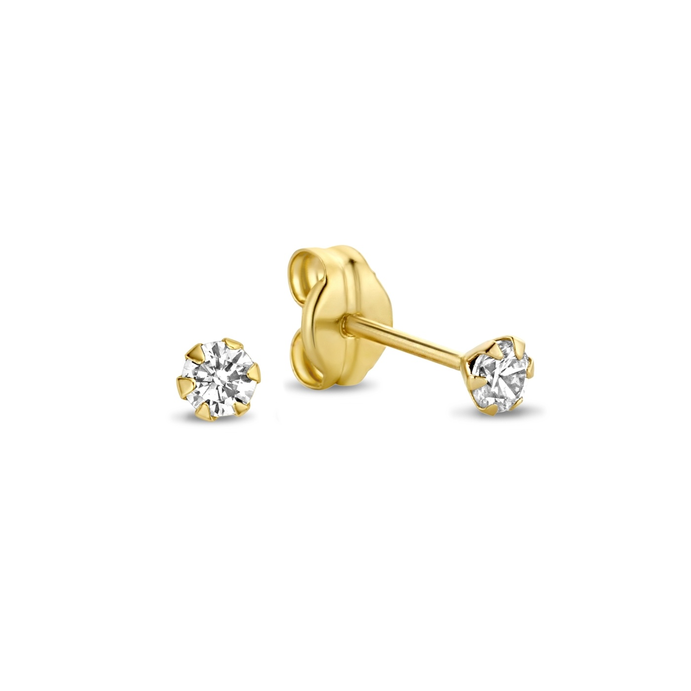 Isabel Bernard Rivoli Elise 14 karat gold ear studs with zirconia