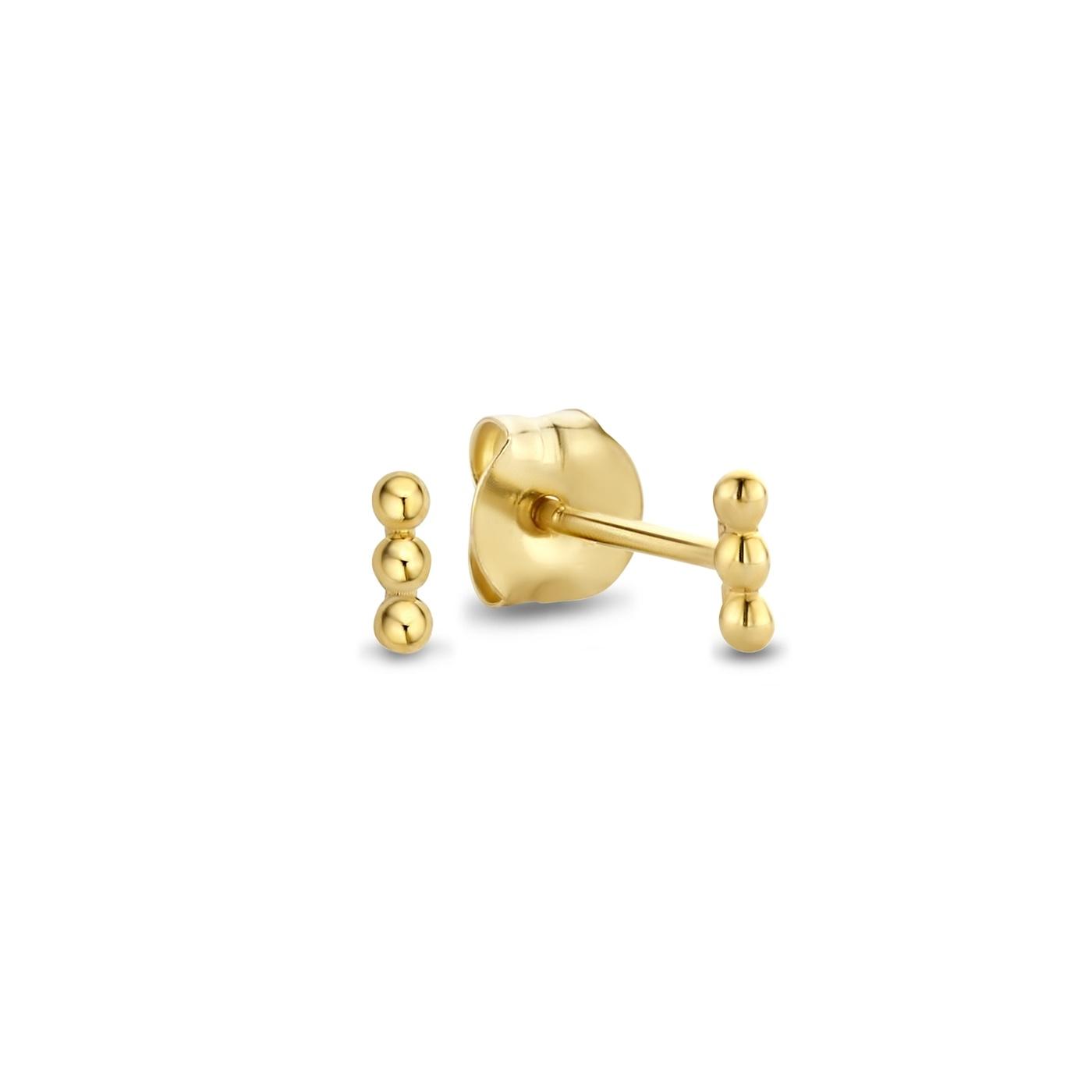 Isabel Bernard Rivoli Claire 14 karaat gouden oorknoppen met bolletjes