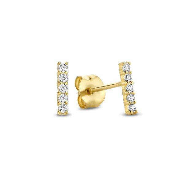 Isabel Bernard Rivoli Esmée orecchini a bottone in oro 14 carati