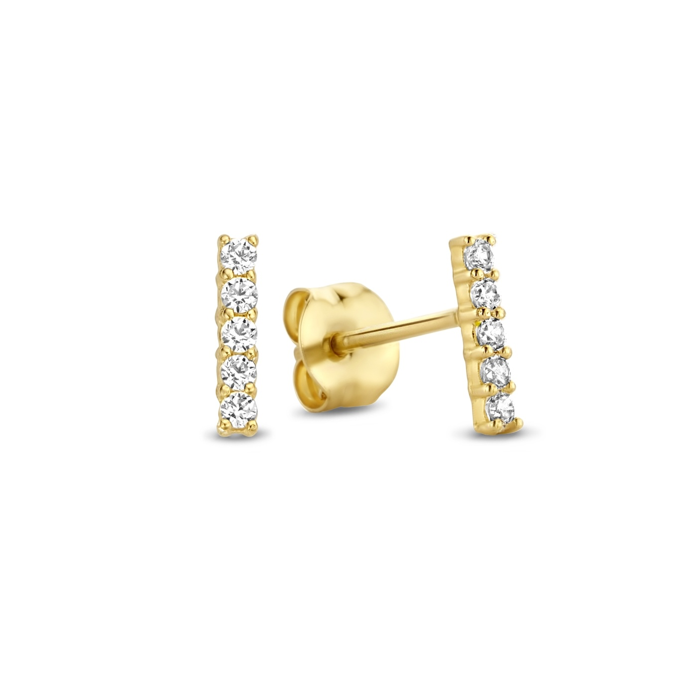 Isabel Bernard Rivoli Esmée 14 karaat gouden oorstekers