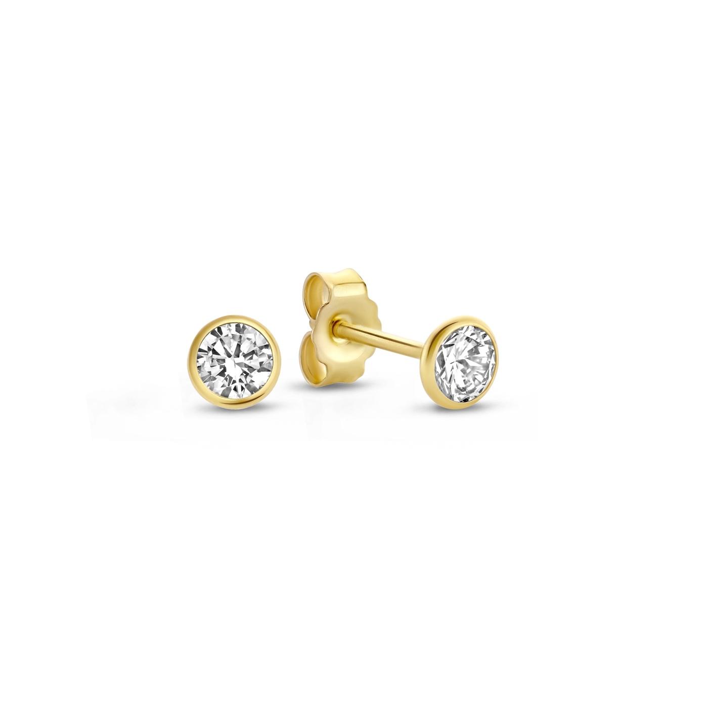 Isabel Bernard Rivoli Juliette clous d'oreilles en or 14 carats