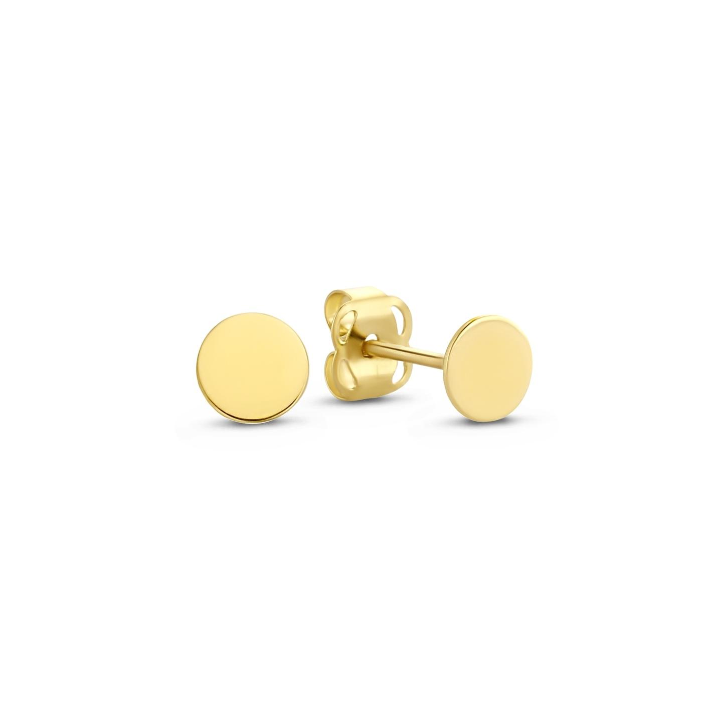 Isabel Bernard Le Marais Jeanne 14 karat gold ear studs with coin