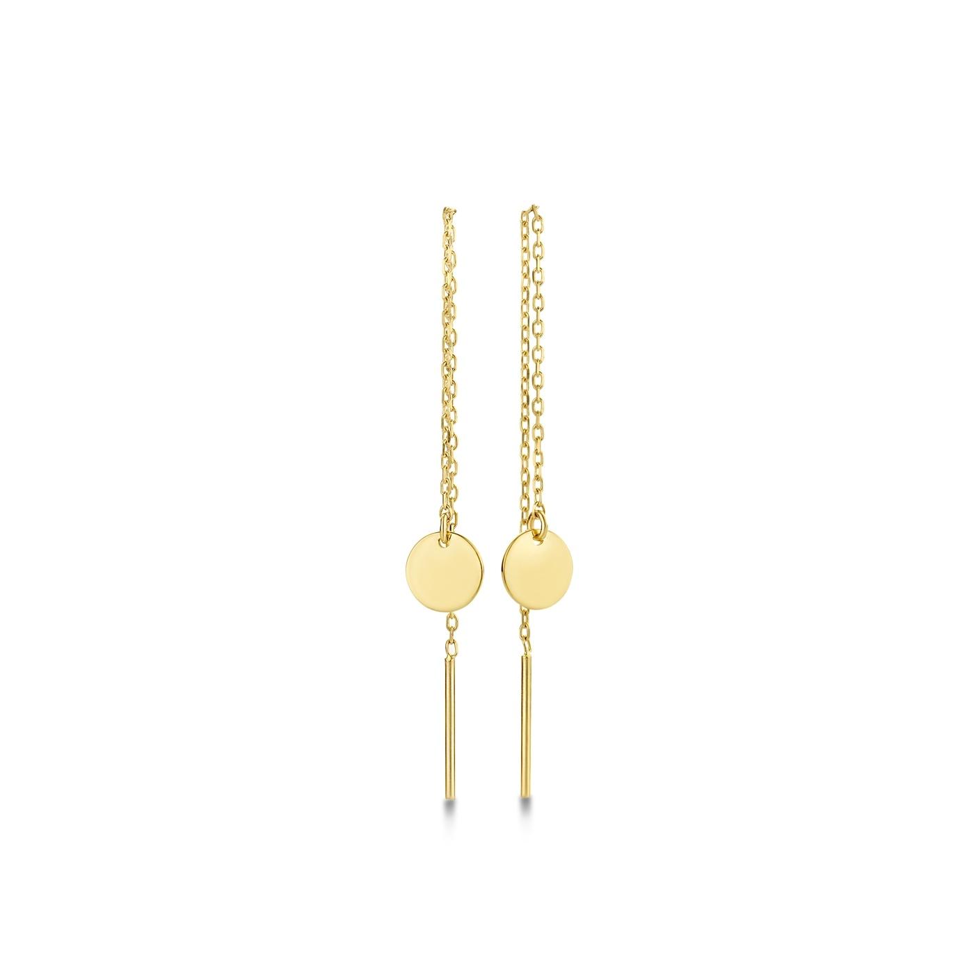 Isabel Bernard Le Marais Jeanne 14 karat gold drop earrings with circle