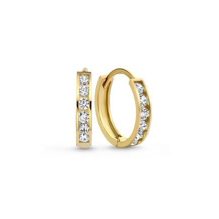 Isabel Bernard Le Marais Tiphaine 14 karat gold hoop earrings