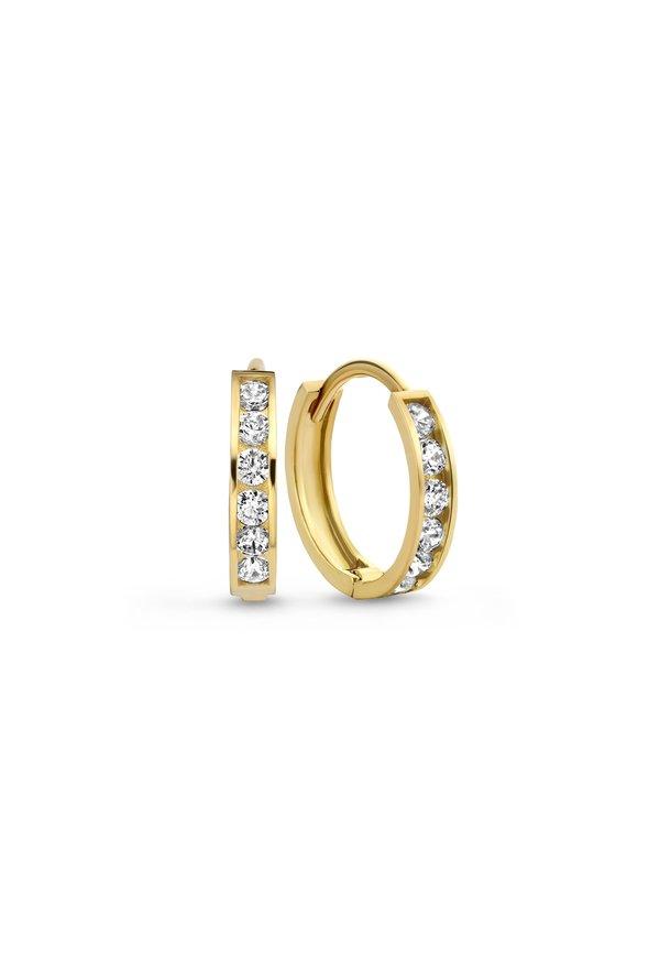 Isabel Bernard Le Marais Tiphaine 14 carat gold creoles 13mm