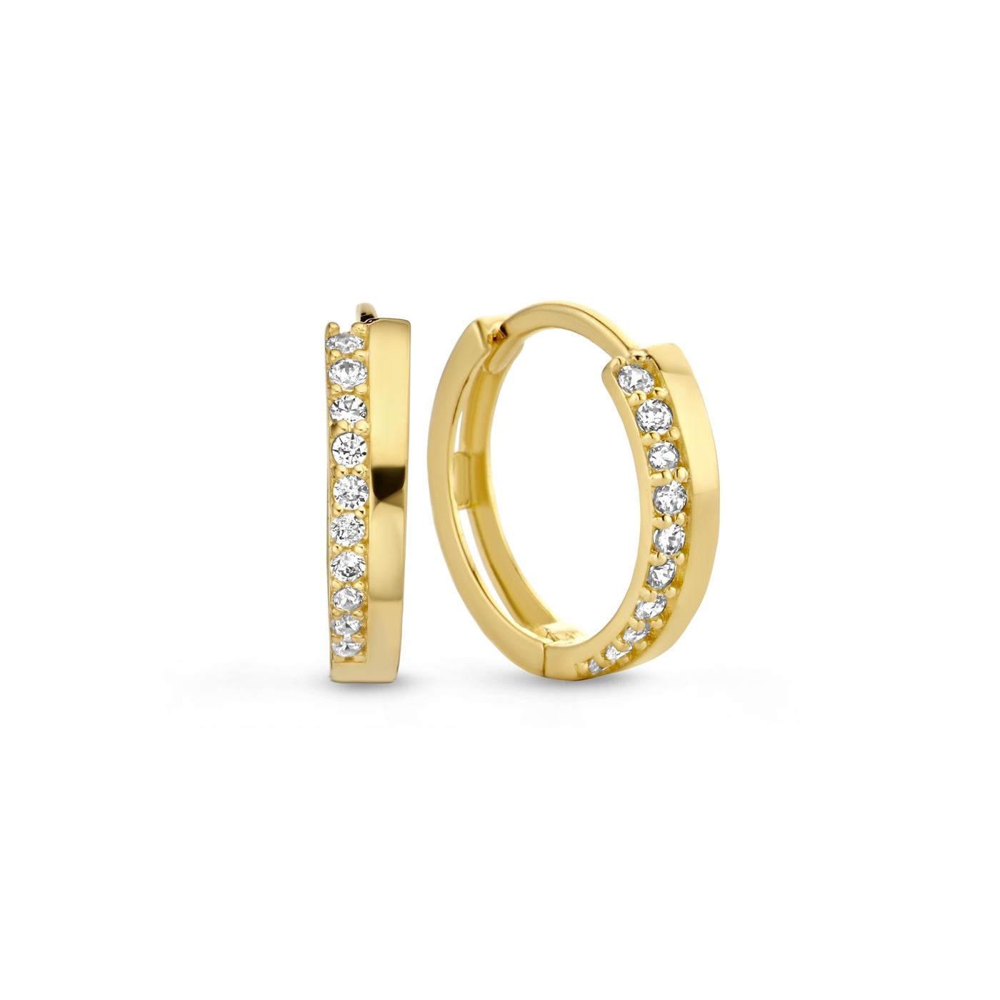 Isabel Bernard Le Marais Louna 14 karat gold hoop earrings with zirconia