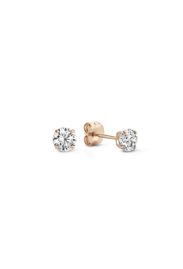 Isabel Bernard La Concorde Celesse 14 karaat rosé gouden oorknoppen