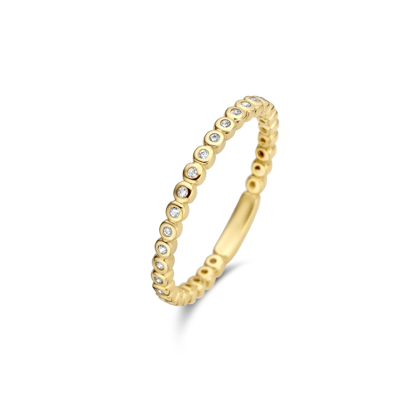 Isabel Bernard Le Marais Aélys 14 karaat gouden ring met zirkonia