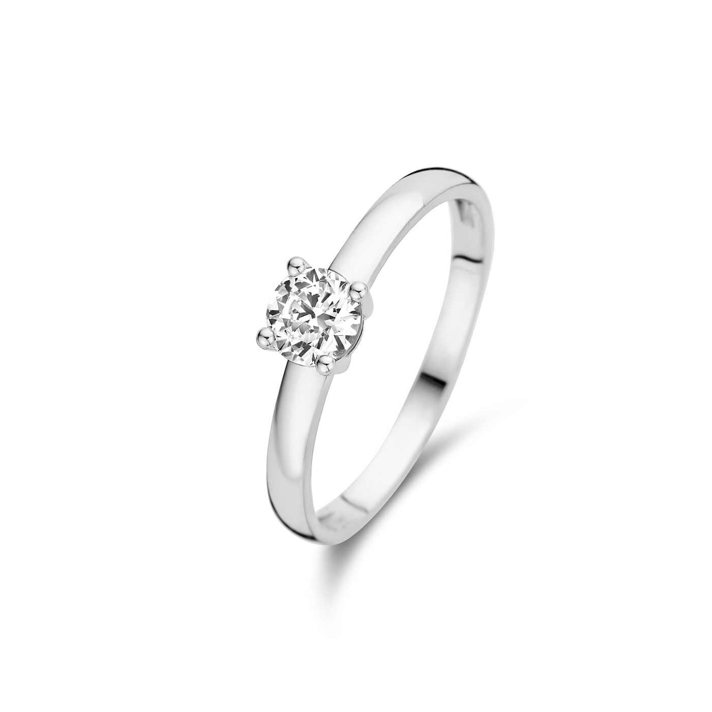 Isabel Bernard Saint Germain de Buci 14 carat white gold ring zirconia