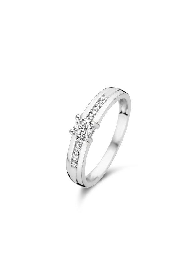 Isabel Bernard Saint Germain de Rennes 14 carat white gold ring