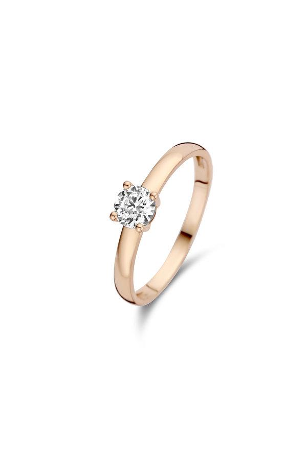 Isabel Bernard La Concorde Joelle 14 karaat rosé gouden ring